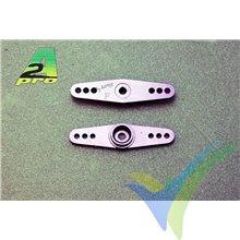 Brazo de servo doble Futaba, aluminio, A2Pro 7856, 2 unidades