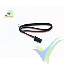 Repuesto cable servo 30cm Futaba, 0.33mm2 (22AWG), conector macho metalizado oro, A2Pro 13009, 1 ud