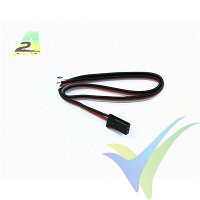 Repuesto cable de servo 1.4mm Futaba, conector macho, metalizado oro, A2Pro 13009, 1 ud