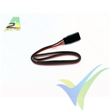 Repuesto cable servo 30cm JR/Hitec, 0.33mm2 (22AWG), conector hembra metalizado oro, A2Pro 13015, 1 ud