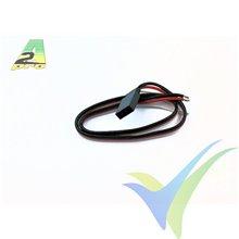 Repuesto cable servo 30cm Futaba, 0.30mm2 (22AWG), conector hembra metalizado oro, A2Pro 13019, 1 ud