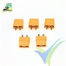Female XT90 connector with insulating cap, A2Pro 14192, gold-plated, 5 pcs