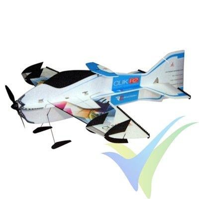 Kit avión indoor RC Factory Clik R2 SuperLITE blue, 840mm, 120g