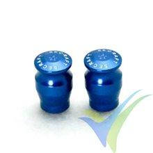 Capuchón aluminio 15mm para interruptor de emisora, taladro 5.5mm, azul