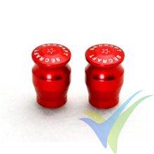 Capuchón aluminio 15mm para interruptor de emisora, taladro 3mm, rojo