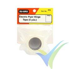 Cinta bisagras adhesiva Dubro 916, 3M Blenderm, 5m