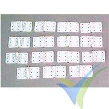 Bisagras nylon 16x28mm Dubro 117, 15 unidades