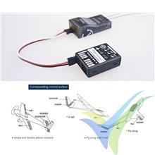 Dualsky FC151, módulo controlador de vuelo para avión, 3 canales giróscopo + acelerómetro