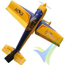 Kit avión GB-Models MX2 1.3m ARF Yellow/Blue, 1320mm, 1570g