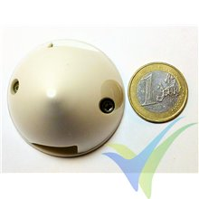 GEMFAN 45mm white plastic spinner, plastic base, 14.7g