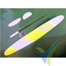 Kit velero DLG SoaringModels Mini Dart PRO F3K amarillo, 1000mm, 125g