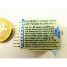 Tester de batería LiPo con alarma, 1S a 8S