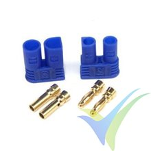 EC2 connector, 2mm, gold plated, male and female