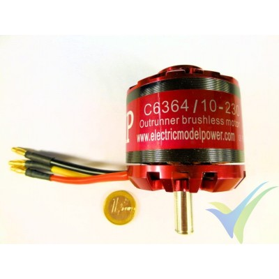Motor brushless EMP C6364/10, 230 Kv