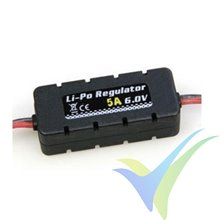 Prolux LiPo Regulator BEC, 5A, 2S-6S, 6.0V