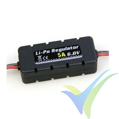BEC Prolux LiPo Regulator, 5A, 2S-6S, 4.8V