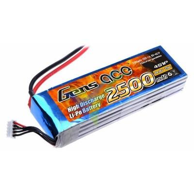 Batería LiPo Gens ace 2500mAh (37Wh) 4S1P 25C 302.4g