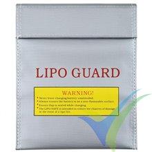 Bolsa ignífuga de seguridad 18x23cm para batería LiPo
