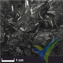 Fibra de carbono picada 3mm, 100g