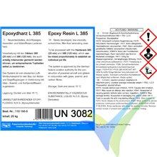Resina epoxi L 385, 1Kg, + endurecedor 386, 350g, Aero, 120min
