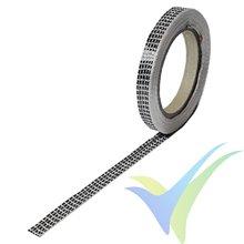 Cinta de fibra de carbono 10mm unidireccional 125g/m², rollo 5m