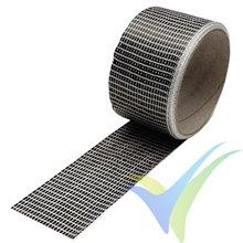 Cinta de fibra de carbono 50mm unidireccional 125g/m², 3k, rollo 5m