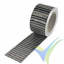 Cinta de fibra de carbono 50mm unidireccional 250g/m², 6k, rollo 5m