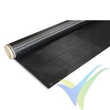 Tela de fibra de carbono 160 g/m², tejido twill, rollo 100cm x 1m