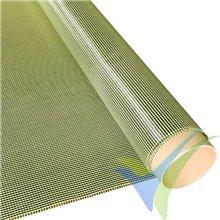 Tela de fibra de carbono/kevlar 68 g/m², tejido liso, rollo 100cm x 1m
