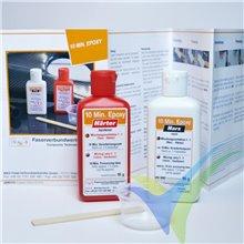 Adhesivo epoxi 10 Min R&G, kit 90g + espátula + vaso de mezcla