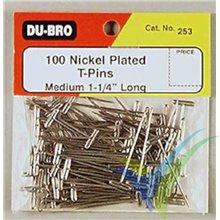 Alfileres de construcción 30mm Dubro 253, 100 unidades