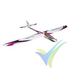 Combo motovelero FlyZone Rapide Performance Glider EP Rx-R, 1525mm, 1250g
