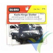 Juego cuchillas y centrador de bisagras Dubro 216 Kwik-Hinge Slotter