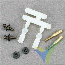 Rótula micro con adaptador a varilla 1.2mm, Dubro 929, 0.5g, 2 uds