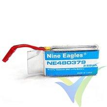 Batería LiPo 1S 700mAh 25C para Nine Eagles Galaxy Visitor 6