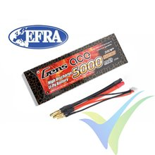 Gens ace 5000mAh 2S 7.4V 50C HardCase RC car Lipo battery 10# (EFRA approved) Deans