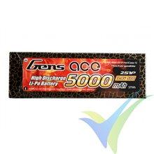 Batería LiPo Gens ace HardCase 10 aprobada EFRA 5000mAh (37Wh) 2S1P 50C 294g