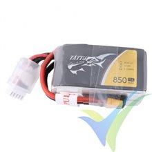 Tattu 850mAh 14.8V 75C 4S1P Lipo Battery Pack with XT30