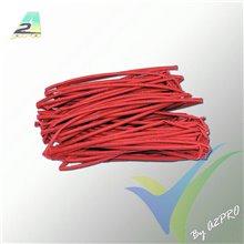 Tubo termorretráctil 1.5mm rojo, A2Pro 160016, 1m