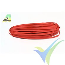 Tubo termorretráctil 3mm rojo, A2Pro 160031, 1m
