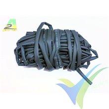Tubo termorretráctil 5mm negro, A2Pro 160052, 1m
