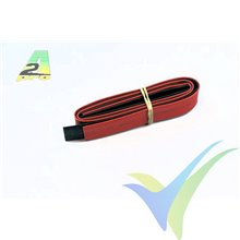 Tubo termorretráctil 10mm rojo y negro, A2Pro 160100, 2x0.5m