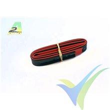 Tubo termorretráctil 12mm rojo y negro, A2Pro 160120, 2x0.5m