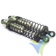 Amortiguador aluminio FASTRAX 1/10 85mm, 2 uds