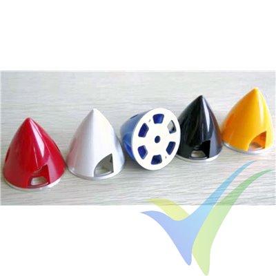 Cono plástico amarillo GEMFAN 70mm, base de aluminio con taladro de 8mm