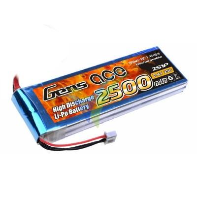 Batería LiPo Gens ace 2500mAh (18.5Wh) 2S1P 25C 175.8g