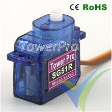 Servo digital TowerPro SG51R, 5g, 0.8Kg.cm, 0.07s/60º, 4.8V-6V