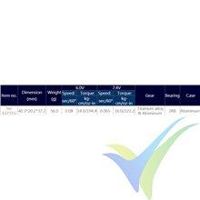 Servo digital Savox SV-1273TG HV, 56g, 16Kg.cm, 0.065s/60º, 6V-7.4V
