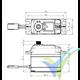 Servo digital Savox SC-1268SG HV, 62g, 25Kg.cm, 0.11s/60º, 6V-7.4V