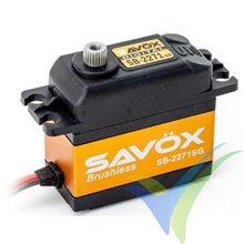 Servo digital Savox SB-2271SG, Brushless HV, 69g, 20Kg.cm, 0.065s/60º, 6V-7.4V